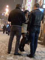 Женский пикап: зимнее знакомство в центре города